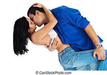 couple, baiser, aimer