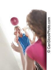 couple, balle, exercisme