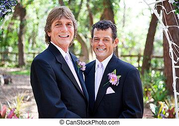 couple, beau, gay, mariage