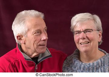 couple, beau, plus vieux
