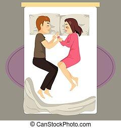 Couple Bed Sleeping