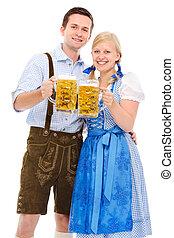 couple, bière