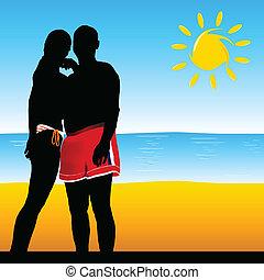 couple black silhouette