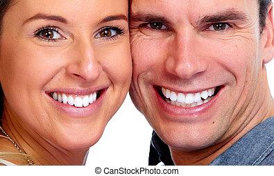 couple, blanc, teeth.
