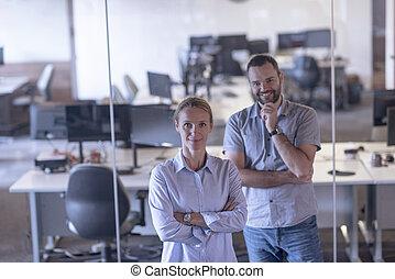 couple, bureau affaires