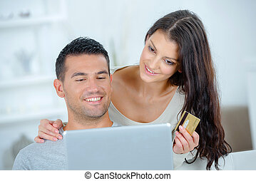 couple buying online