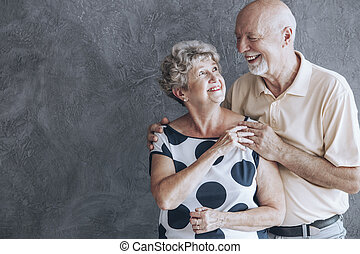 Couple celebrating anniversary