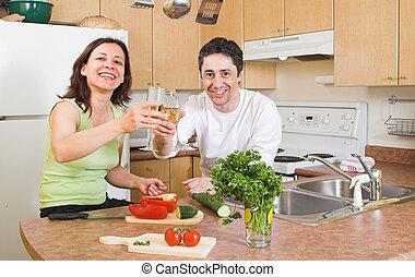 couple, cuisine