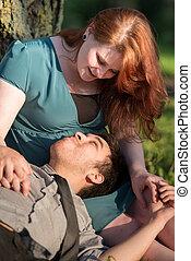 couple, délassant