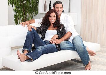 couple, délassant, soude