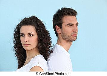 couple, désaccord, avoir