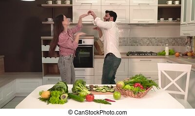 Couple Dance in Kitchen