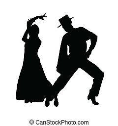couple dance vector silhouette