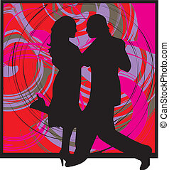 Couple dancing illustration