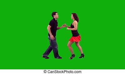Couple Dancing Salsa