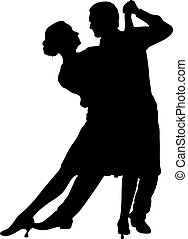 Couple dancing - illustration of a couple dancing