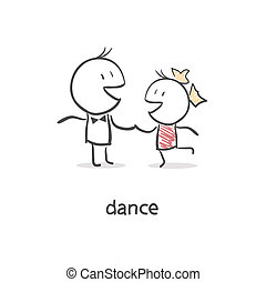 couple., danse