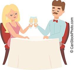 couple, dater, restaurant