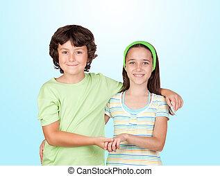 couple, de, enfants