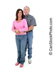 couple, debout