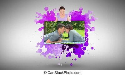 couple, dehors, projection, amour, femme