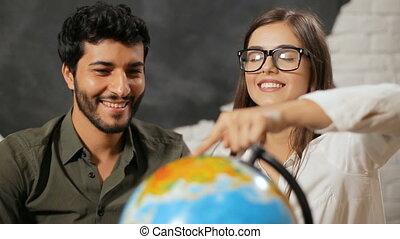 couple, destination, chooses, voyage