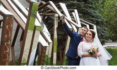 Couple doing a selfie