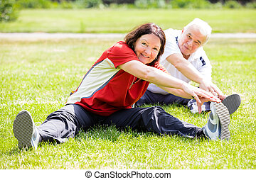 Couple Doing Fitness Exercise