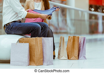 Couple doing shopping