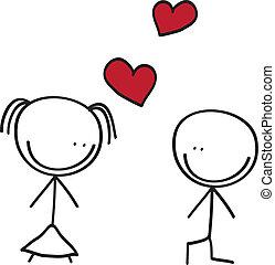 couple doodle
