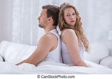 couple, dos, séance