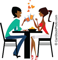 couple raising glasses at dinner table