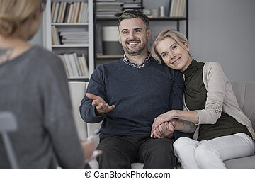 Couple during marital therapy