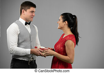 Couple during Valentines day