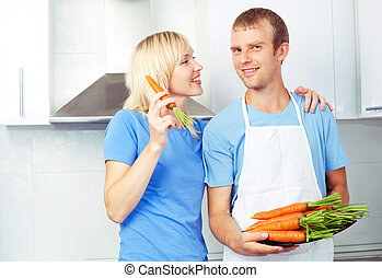 couple eating carrot
