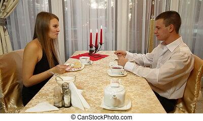 Couple Eating Desert