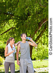 couple, eau potable