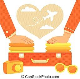 couple, emballage