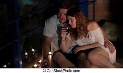 couple enjoying a romantic evening