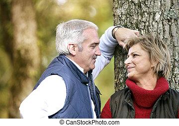 couple enjoying a romantic walk