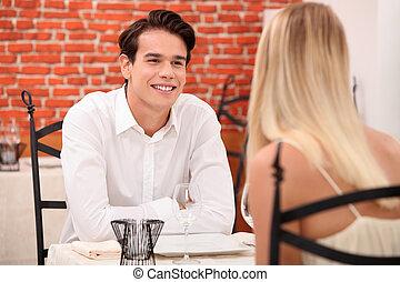 Couple enjoying romantic date