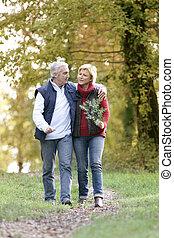 Couple enjoying romantic walk
