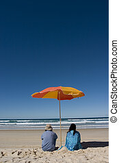 Couple enjoying the beach..