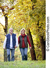 Couple enjoying walk