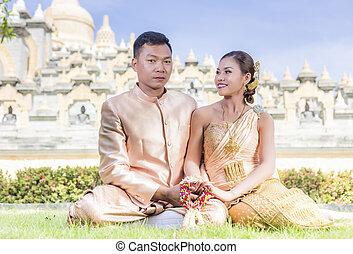 couple, est asiatique, sud