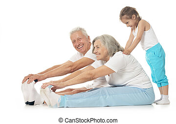 couple, exercisme, personne agee