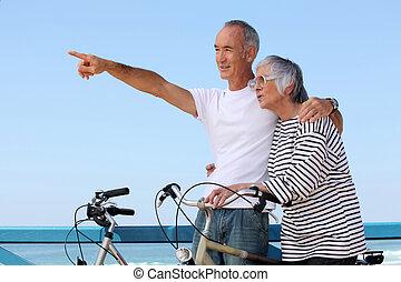 couple, faire vélo