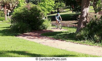 couple, faire vélo, ensemble