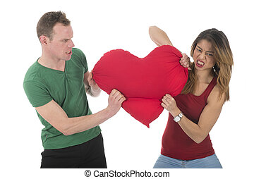 Couple fighting for love