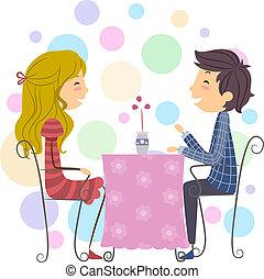 couple, figure bâton